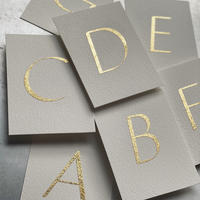 Table Cards 英字