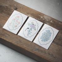 "Letterpress Card ""花鳥風月"" 単品ミニカード(左・蝶)"