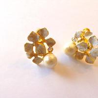 コットンパール flowerイヤリング