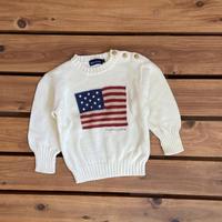 【90cm】Ralph Lauren Flag sweater