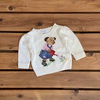 【80cm】Ralph Lauren Polobear sweater