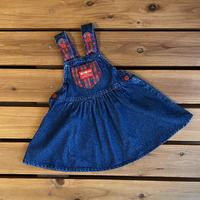 【90cm】USA OSHKOSH Checkerd Denim Dress
