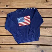 【120cm】Ralph Lauren Flag sweater