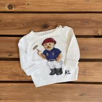【80cm】Ralph Lauren Polo bear sweater