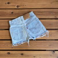 【140cm】Vintage Levi's 550 Denim Shorts(red,10,25)
