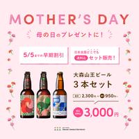 【5/5まで!母の日スペシャル!送料込み!】大森山王ビール「KAORU&NAOMI&GEORGE」3本セット