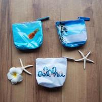 ハワイ【ALOHA EQUALS LOVE】ジッパーポーチ スモール