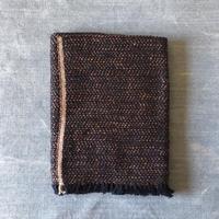 Gara-bou Blanket Stole Kabe 100×190cm (Herringbone - Navy orange)