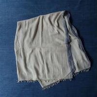 Organic Khadi Basket Throw L 150x240 (Ivory)