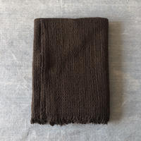 Gara-bou Blanket Stole Amami Dyed Kabe 100×190cm (Mud)