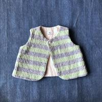 Gara-bou Baby Vest (Lt. green border )