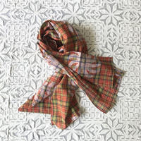 Plaid Printed Stole (Red)