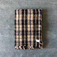 Gara-bou Blanket Stole 1ply 100×190cm (Navy check)