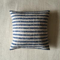 Gara-bou × Khadi Cushion Cover (Indigo Border)