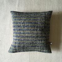 Gara-bou × Khadi Cushion Cover (Olive Border)