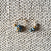 Cotton Daisy Circle Pierce (Light Indigo)