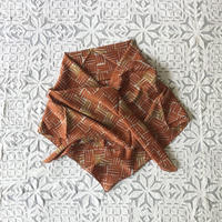 Cotton Silk  Printed Stole S (Woven Orange)