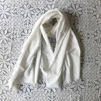 Cotton Silk Khadi Stole (White)