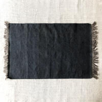 Fine Cotton Indigo x Mud dyed Rug  60x90