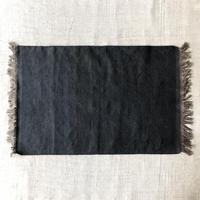 Fine Cotton Indigo x Mud dyed Rug  60x90