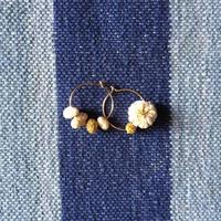 Cotton Daisy Circle Pierce (Natural)