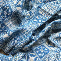 Cotton Silk Printed Stole 105x180 (Block Blue)