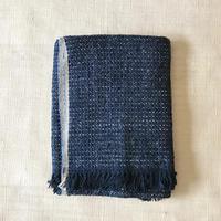 Gara-bou Blanket Stole Kabe 100×190cm (Light Indigo)