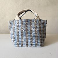 Gara-bou × Canvas Small Tote (Sax Stripe)