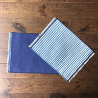 Fine cotton indigo place mat 35×45