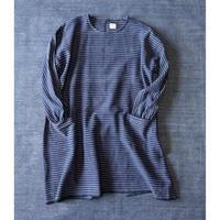 Organic Khadi Coverall Apron (Indigo pin stripe)