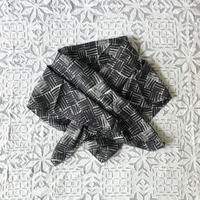 Cotton Silk  Printed Stole S (Woven Gray)