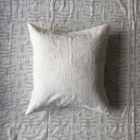 Khadi Cutwork Cushion Cover (Seaweed)