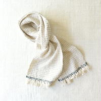 Gara-bou Muffler Stole Kabe 22×190cm (Pin Border - Light Gray)