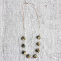 Cotton Daisy Necklace (Light Indigo)