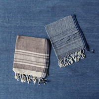 Organic Khadi Basket Face Towels (Indigo Chambray / Gray Chambray)