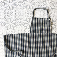 Organic Khadi Kid's Full Apron ( Mini Madras )