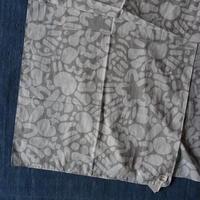 #150 Khadi Alpha Printed Stole 55 × 180cm  (Gray)
