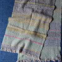 Gara-bou Medium Stole WS Kabe 50×190cm (Mix Border - Green)