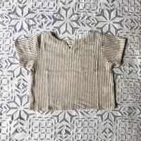OG 2x1 Khadi Kid's Pullover ( Charcoal Pin Stripe )