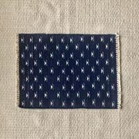 Fine Cotton Indigo Jacquard Mat 55×70 (Dark Indigo)