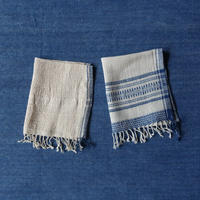 Organic Khadi Basket Hand Towels (Ivory / Natural)