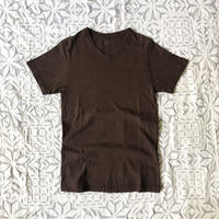 Gara-bou Short Sleeve T-shirts  Natural Dyed Unisex ( Teach Mud )