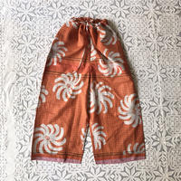 Plaid Printed Pants (Orange)