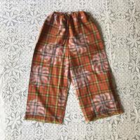 Plaid Printed Pants (Red)