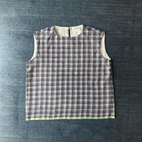 #80 Khadi Sleeveless Tops (Blue)