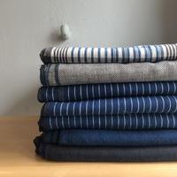 Organic Khadi Sheets (Madras / Herringbone / Indigo Pin Stripe / Indigo / Charcoal)