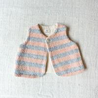 Gara-bou Baby Vest (Pink border)