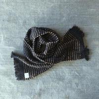 Gara-bou Muffler Stole Kabe 22×190cm (Pin border - Indigo)