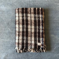 Gara-bou Blanket Stole 1ply 100×190cm (Burgandy check)