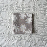 #150 Khadi Badala Flower Print Bandana (Light Gray)